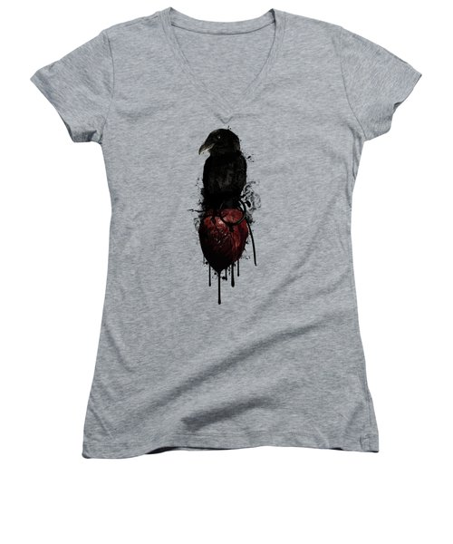 Raven And Heart Grenade Women's V-Neck T-Shirt