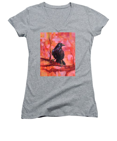Raven Bright Women's V-Neck
