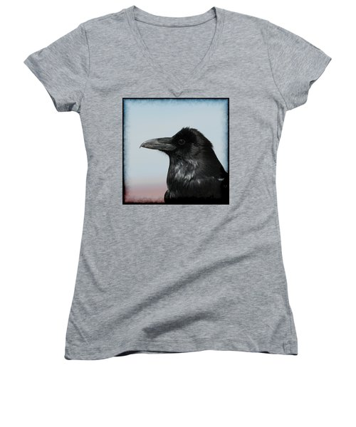 Raven Profile Women's V-Neck T-Shirt