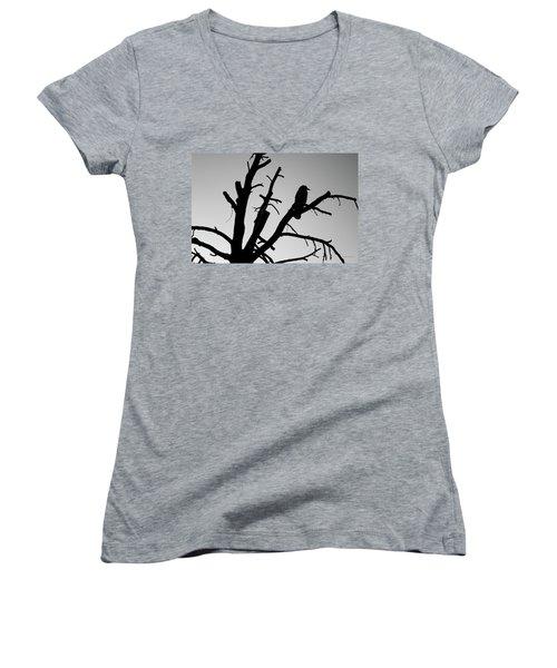 Raven Tree II Bw Women's V-Neck
