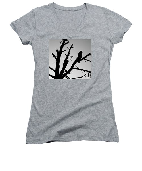 Raven Tree II Bw Women's V-Neck