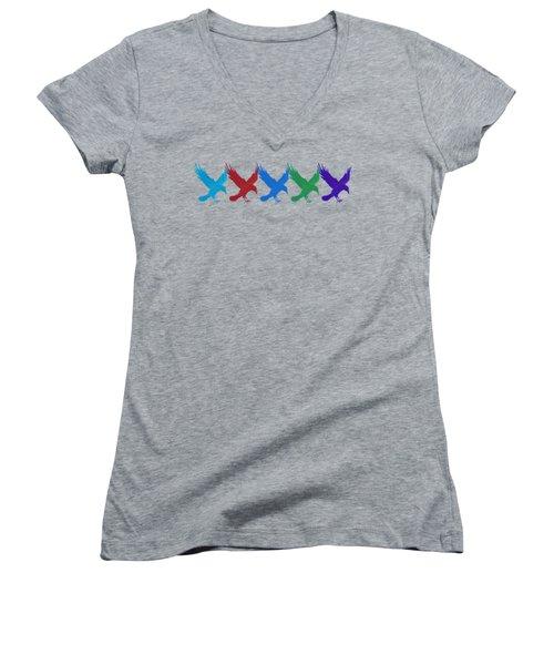 Ravens Apparel Design Women's V-Neck T-Shirt (Junior Cut) by Teresa Ascone