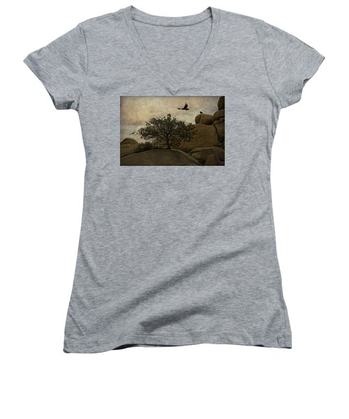 Ravens Searching For Food Women's V-Neck