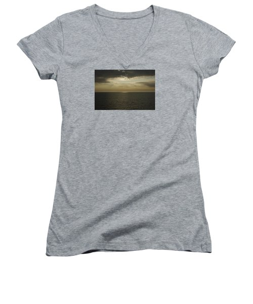 Women's V-Neck T-Shirt (Junior Cut) featuring the photograph Rays Of Beauty by Greg Graham