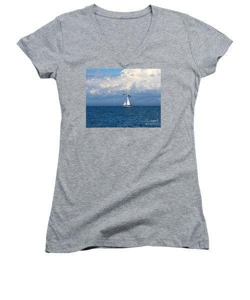 Razorbill Escort Women's V-Neck T-Shirt