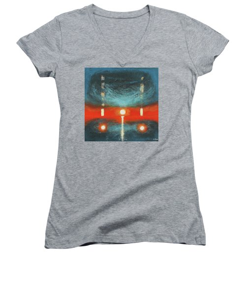 Reach For The Dead Women's V-Neck (Athletic Fit)