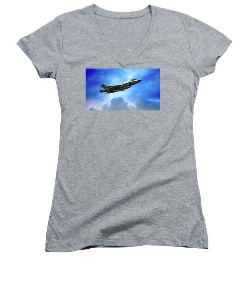 Reach For The Skies Women's V-Neck