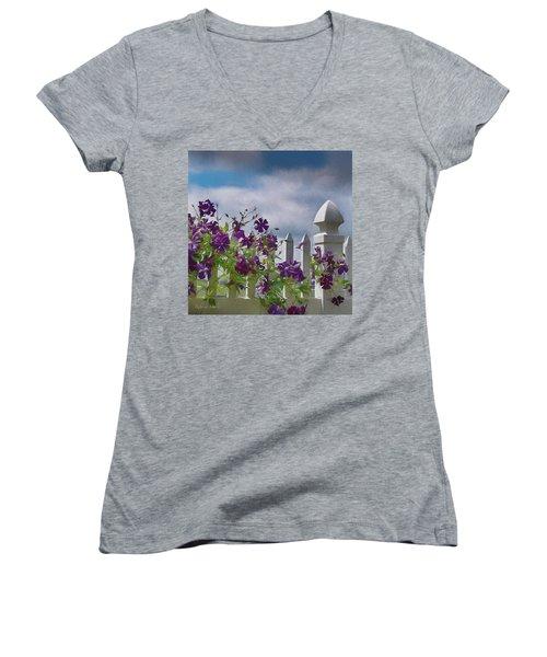 Reaching For The Sky Women's V-Neck T-Shirt