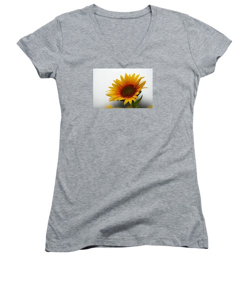 Reaching For The Sun Women's V-Neck T-Shirt (Junior Cut) by Karen McKenzie McAdoo
