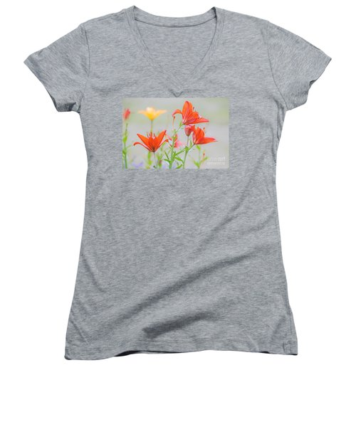 Reaching Higher Women's V-Neck (Athletic Fit)