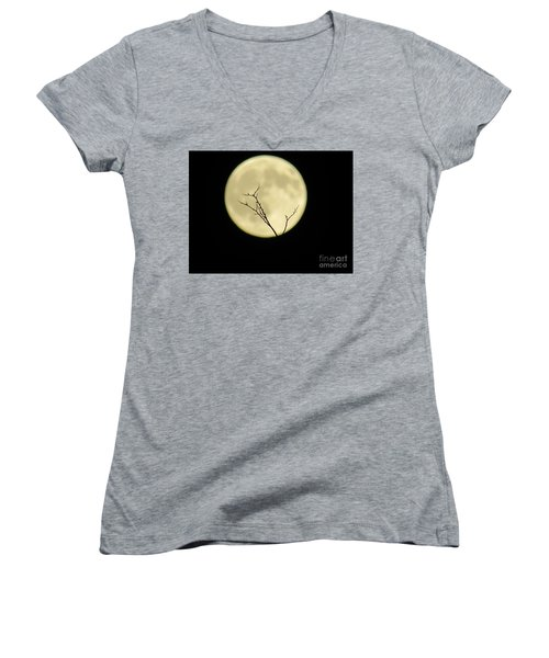 Reaching Out Into The Night Women's V-Neck (Athletic Fit)