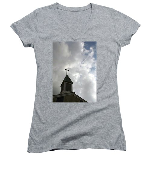 Reaching Steeple Women's V-Neck (Athletic Fit)