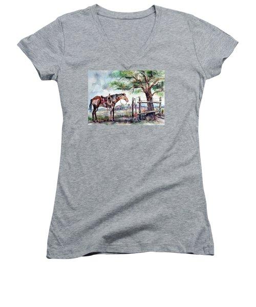Ready Women's V-Neck T-Shirt