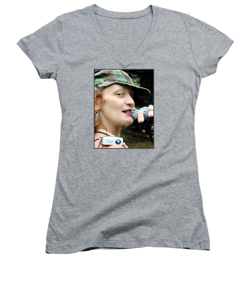 Ready To Play Catch Women's V-Neck T-Shirt