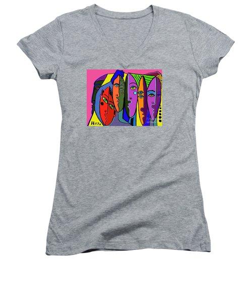 Really? Women's V-Neck T-Shirt (Junior Cut) by Hans Magden