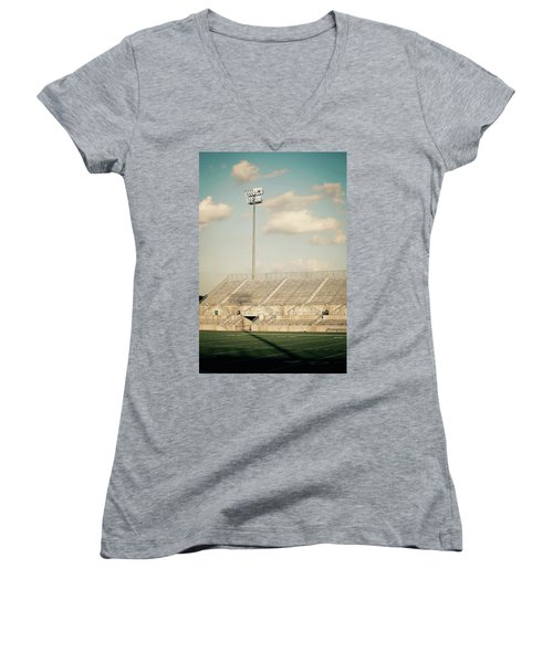 Women's V-Neck T-Shirt (Junior Cut) featuring the photograph Recalling High School Memories by Trish Mistric