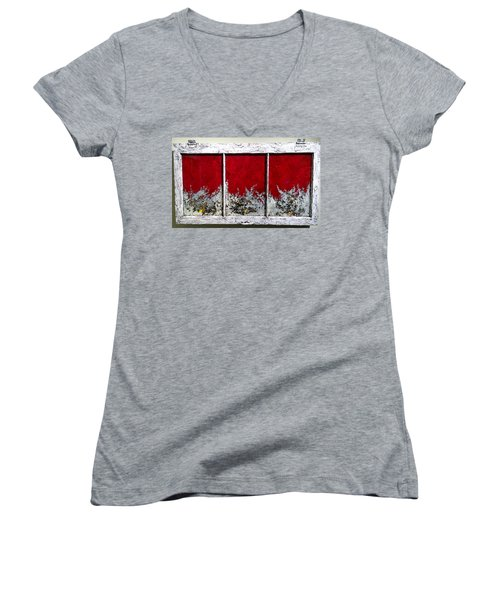 Red And White Widow # 2 Women's V-Neck (Athletic Fit)