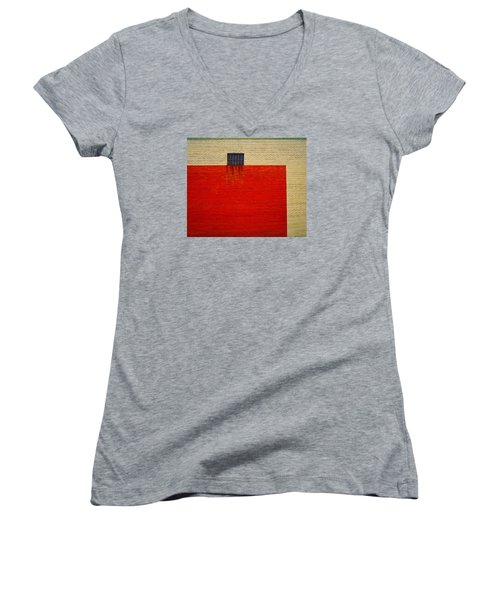 Red And Yellow Wall Women's V-Neck (Athletic Fit)