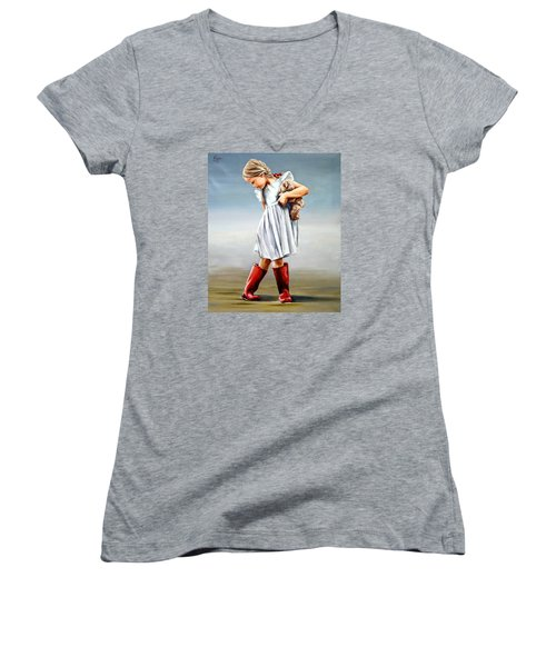 Red Boots Women's V-Neck (Athletic Fit)