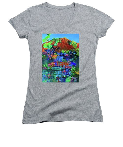 Red Bridge Dreamscape Women's V-Neck T-Shirt