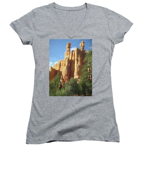 Red Canyon Twins Women's V-Neck (Athletic Fit)