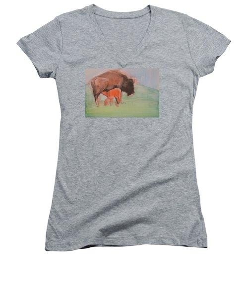 Red Dog Women's V-Neck T-Shirt
