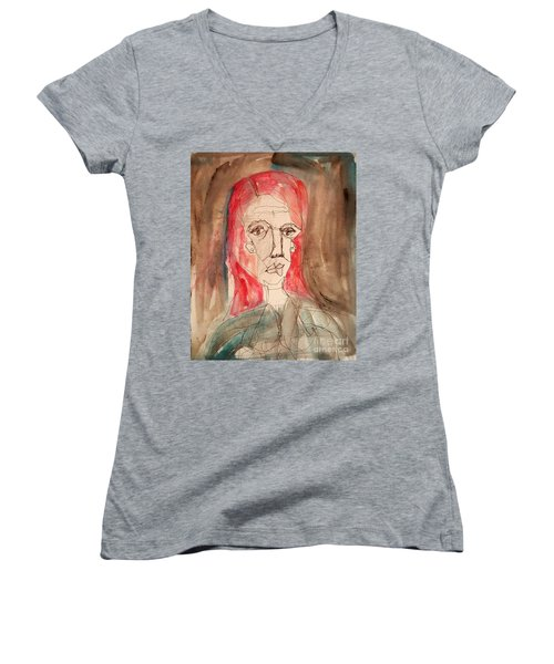 Red Headed Stranger Women's V-Neck T-Shirt