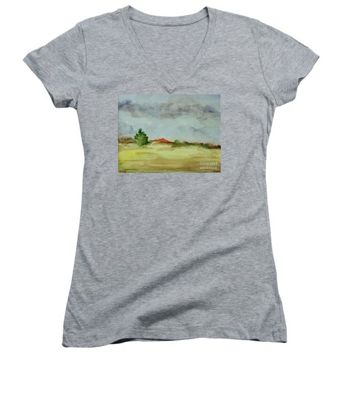 Red Hill Landscape Women's V-Neck T-Shirt