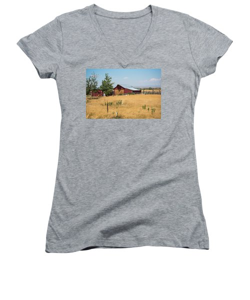 Red Home On The Range Women's V-Neck