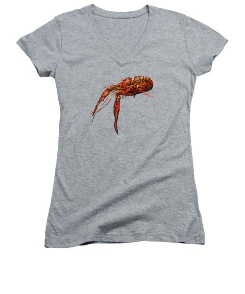 Red Hot Crawfish Women's V-Neck (Athletic Fit)