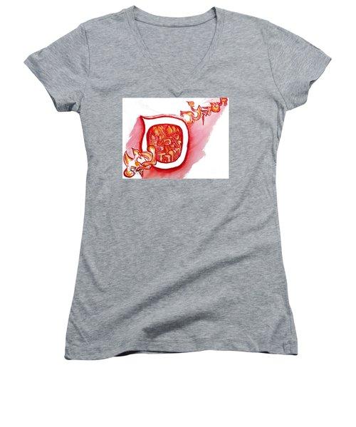 Red Hot Samech Women's V-Neck (Athletic Fit)