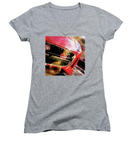 Red Jag Women's V-Neck T-Shirt