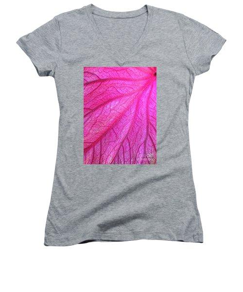 Red Leaf Arteries Women's V-Neck T-Shirt