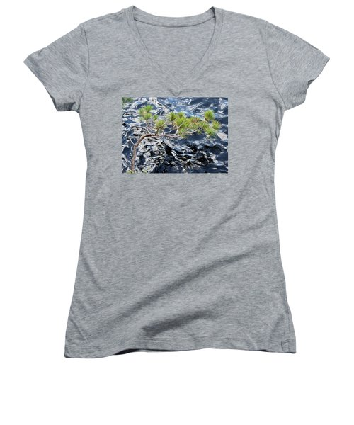 Red Pine Women's V-Neck (Athletic Fit)