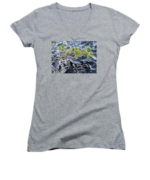 Red Pine Women's V-Neck T-Shirt