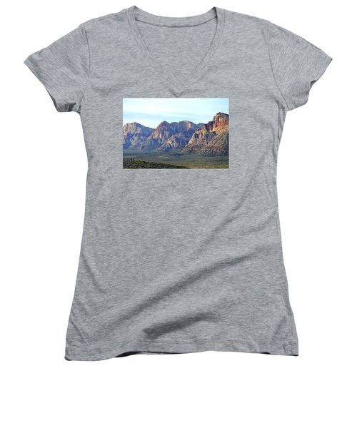 Women's V-Neck T-Shirt (Junior Cut) featuring the photograph Red Rock Canyon - Scale by Glenn McCarthy Art and Photography