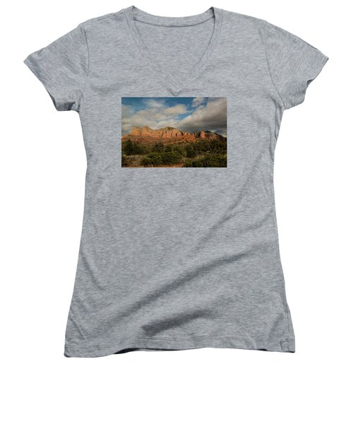 Red Rock Country Sedona Arizona 3 Women's V-Neck T-Shirt (Junior Cut)