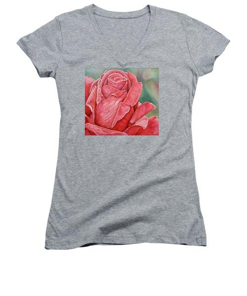 Red Rose 93 Women's V-Neck T-Shirt