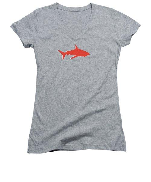 Red Shark Women's V-Neck