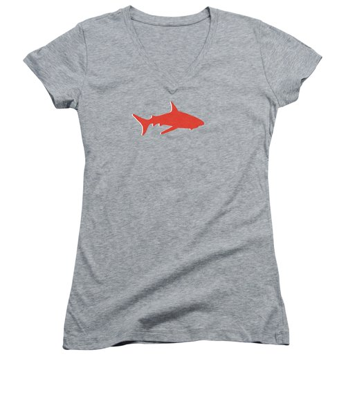 Red Shark Women's V-Neck (Athletic Fit)