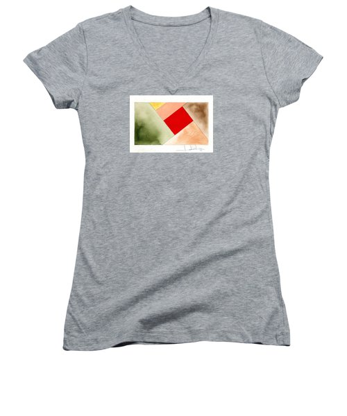 Red Square Tanned Women's V-Neck