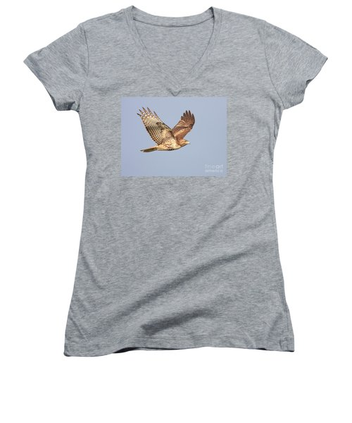 Red Tailed Hawk 20100101-1 Women's V-Neck