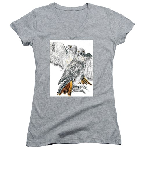 Red-tailed Hawk Women's V-Neck