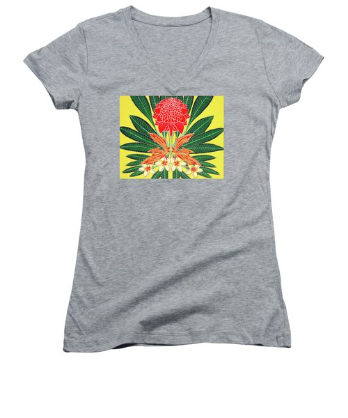 Red Torch Ginger Women's V-Neck T-Shirt