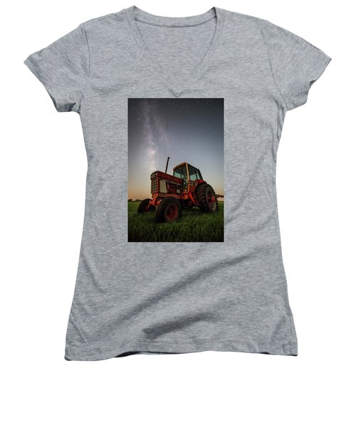 Red Tractor Women's V-Neck