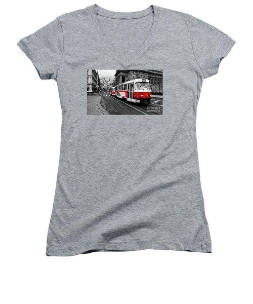 Red Tram Women's V-Neck T-Shirt