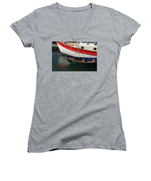 Red White And Blue Women's V-Neck
