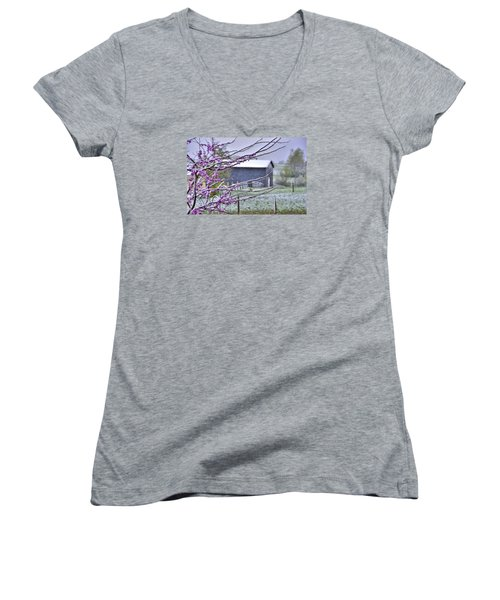 Redbud Winter Women's V-Neck