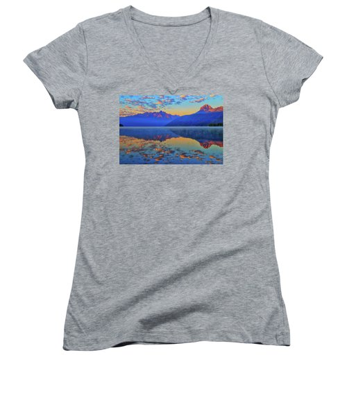 Redfish Lake Morning Reflections Women's V-Neck