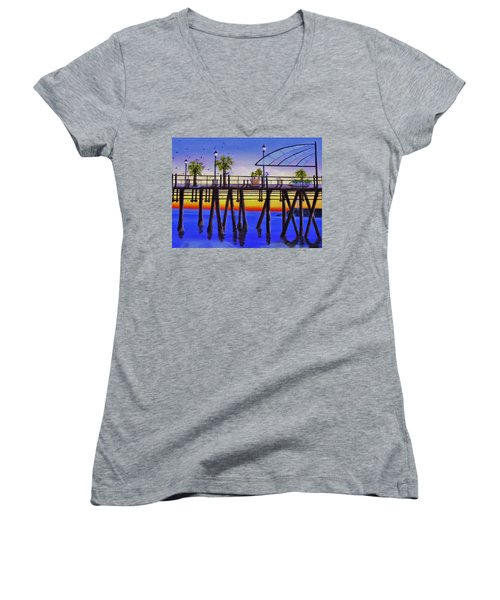 Redondo Beach Pier Women's V-Neck T-Shirt